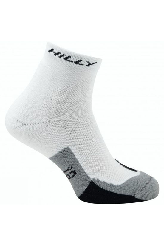 Hilly Cushion Anklet Socks White/Black/Grey