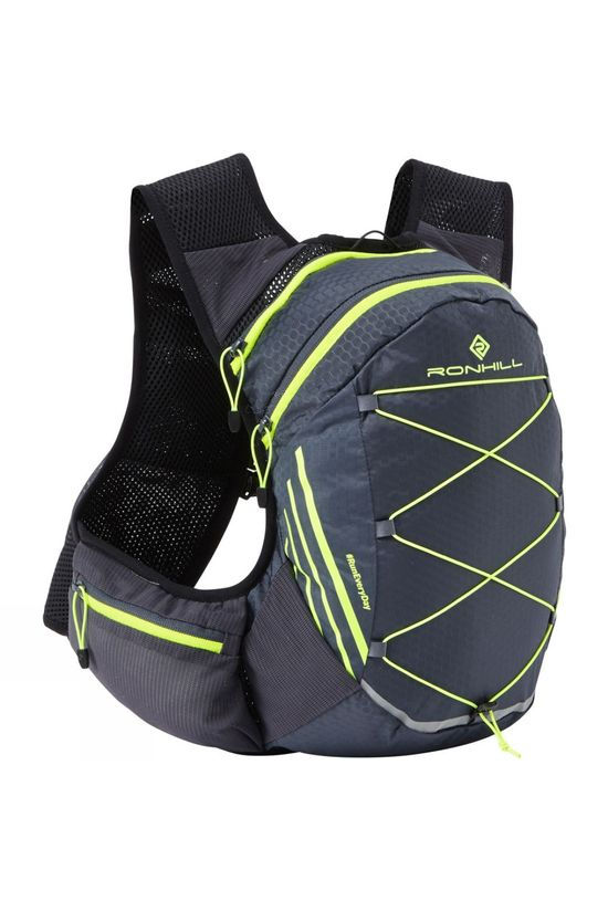 Ronhill Pioneer 8L Vest Charcoal/Fluo Yellow