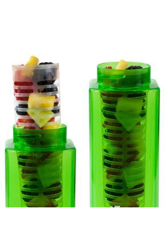 Clean Bottle Infuser Module for Plastic Square White