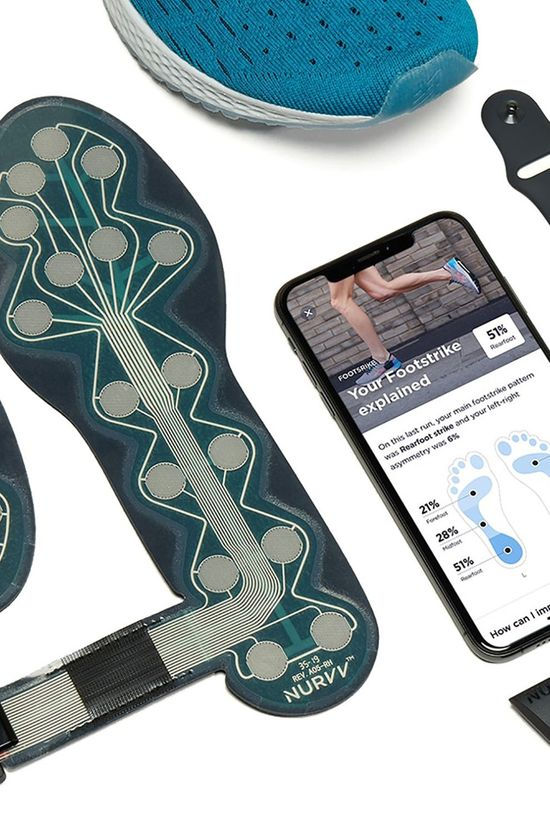 Nurvv Run Insoles & Coaching App Black/Grey