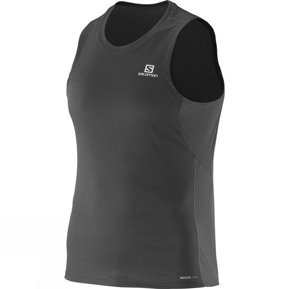 Salomon Mens Agile Tank Black