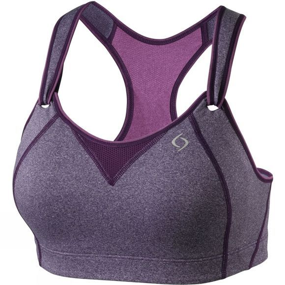 Moving Comfort Womens Rebound Racer Bra Berry Heather/Berry
