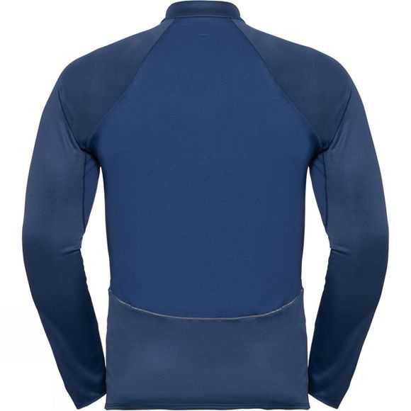 Odlo Mens Zeroweight Ceramiwarm 1/2 Zip Midlayer Estate Blue
