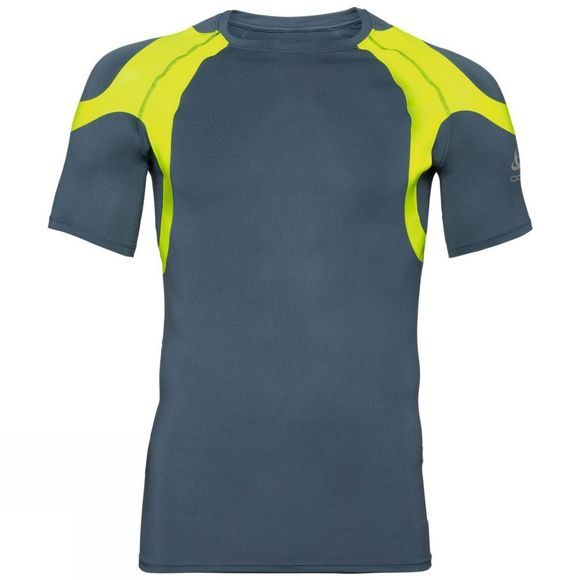 Odlo Mens Active Spine Light Base Layer Top Bering Sea - Safety Yellow (Neon)