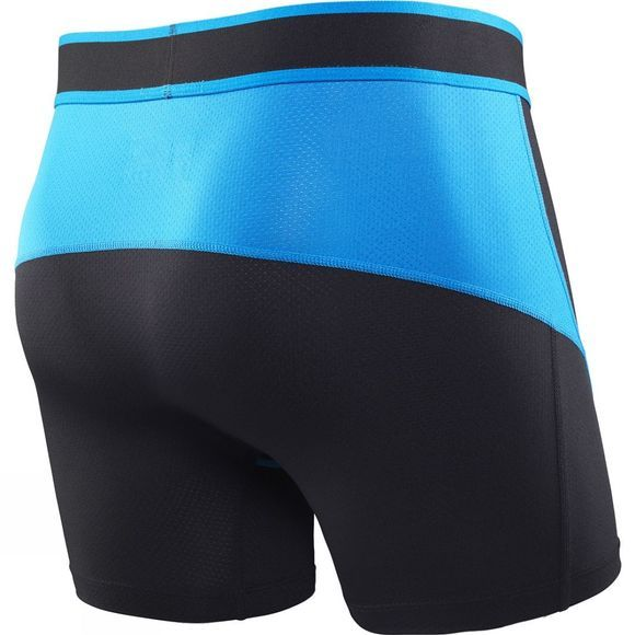 Saxx Mens Kinetic Boxers Black / Electric Blue