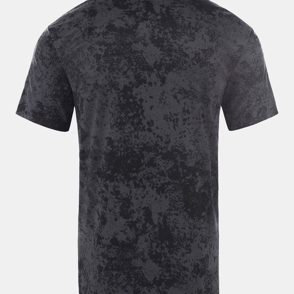The North Face Men Reaxion Amp Crew T-Shirt Asphalt Grey Grunge Print/Tnf Black