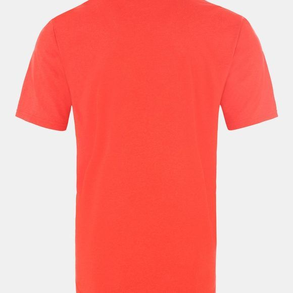 The North Face Men Reaxion Amp Crew T-Shirt Fiery Red Heather