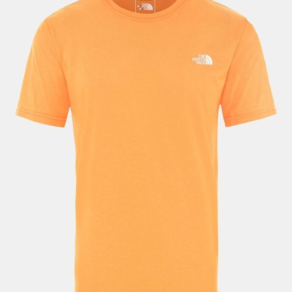 The North Face Men Reaxion Amp Crew T-Shirt Flame Orange Heather