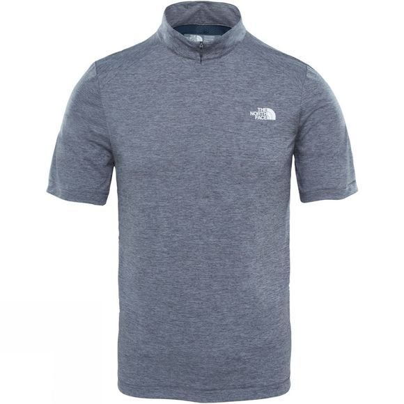 The North Face Mens Shareta II 1/4 Zip T-Shirt TNF Medium Grey Heather/Urban Navy
