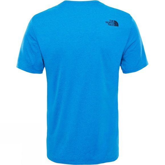The North Face Mens Purna T-Shirt Bomber Blue Light Heather