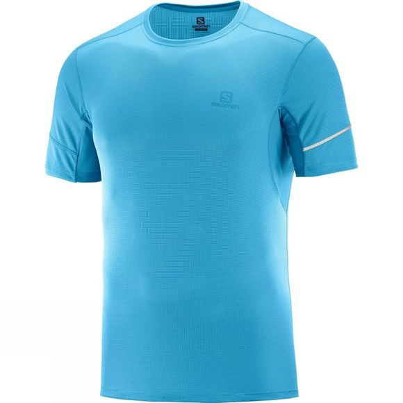 Salomon Mens Agile Short Sleeve Tee Fjord Blue
