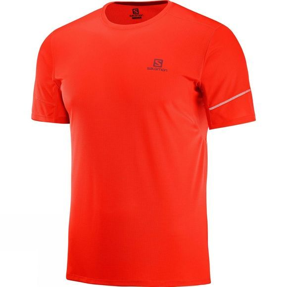 Salomon Mens Agile Short Sleeve Tee Fiery Red