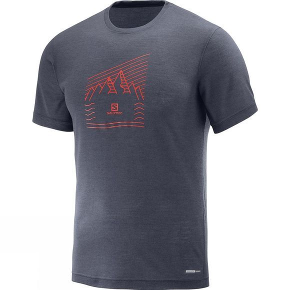 Salomon Mens Explore Graphic Short Sleeve Tee Graphite
