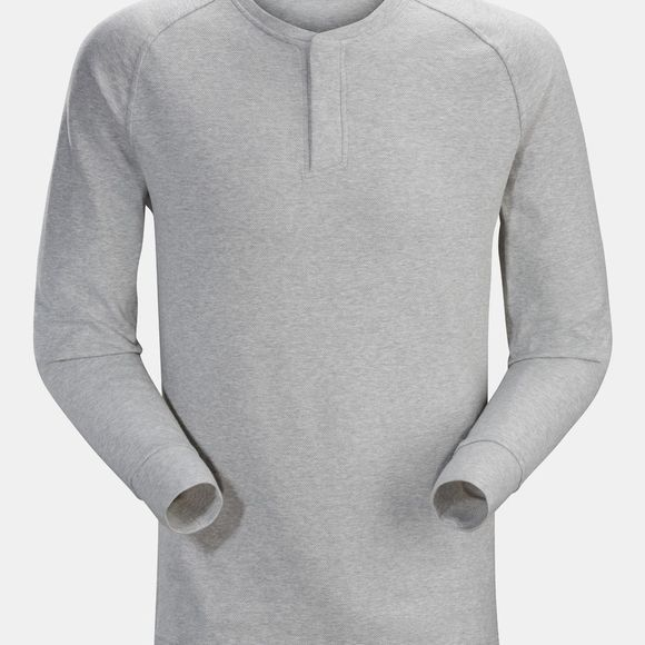 Arc'teryx Mens Sirrus Henley Long Sleeve Top Delos Grey Heather