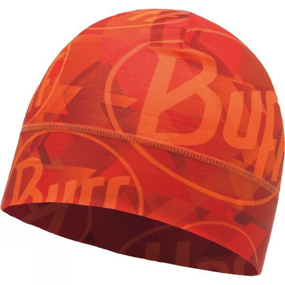 Buff Single Layer Microfibre Hat Tip Logo Orange Fluor