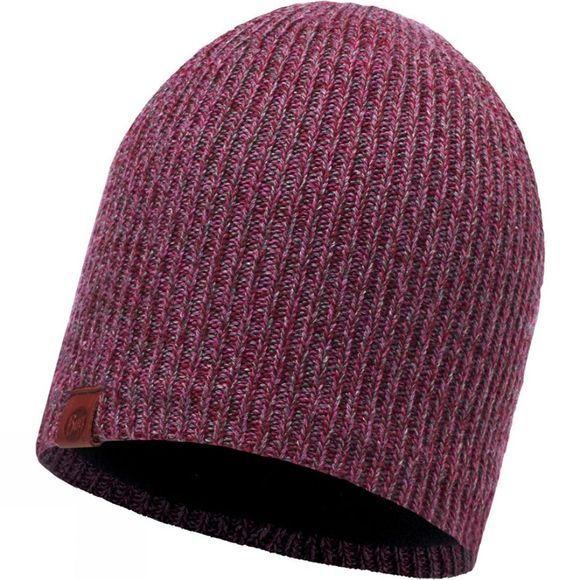 Buff Lyne Knitted Hat Heather Rose