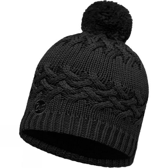 Buff Savva Knitted Hat Black