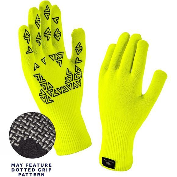 SealSkinz Mens Ultra Grip Gloves Hi Vis Yellow