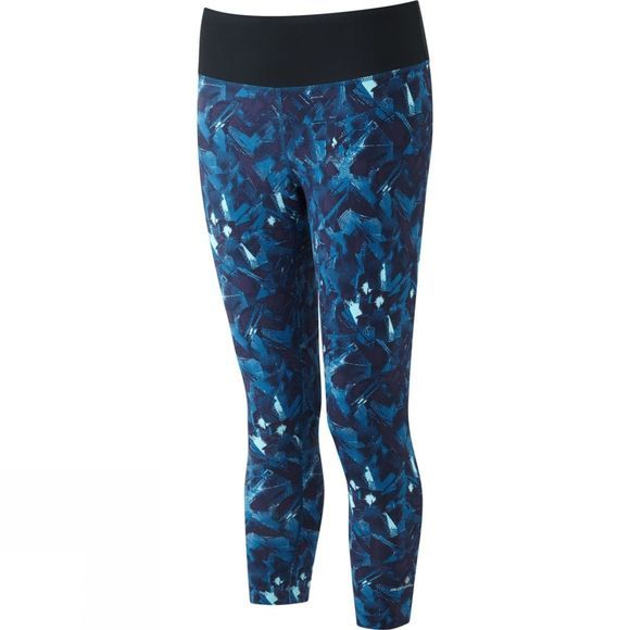 Ronhill Womens Momentum Crop Tights Web Print Surf
