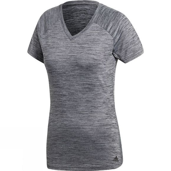 Adidas Womens Freelift Tee COLORED HEATHER/GREY TWO