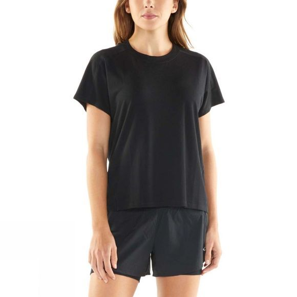 Icebreaker Womens Kinetica Short Sleeve Crewe T-Shirt Black