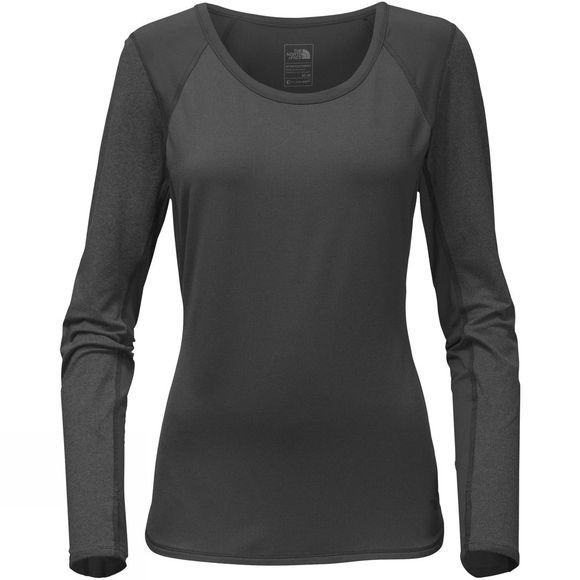 The North Face Womens Motivation Long Sleeve Top TNF Dark Grey Heather