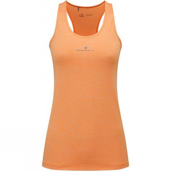 Ronhill Women's Aspiration Body Tank Neon Peach Marl