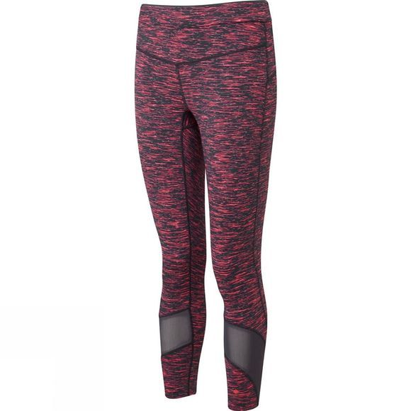 Ronhill Womens Infinity Crop Tights  Charcoal/Hot Pink