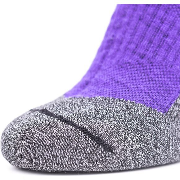 SealSkinz Soft Touch Mid Length Socks Purple/Grey/Light grey