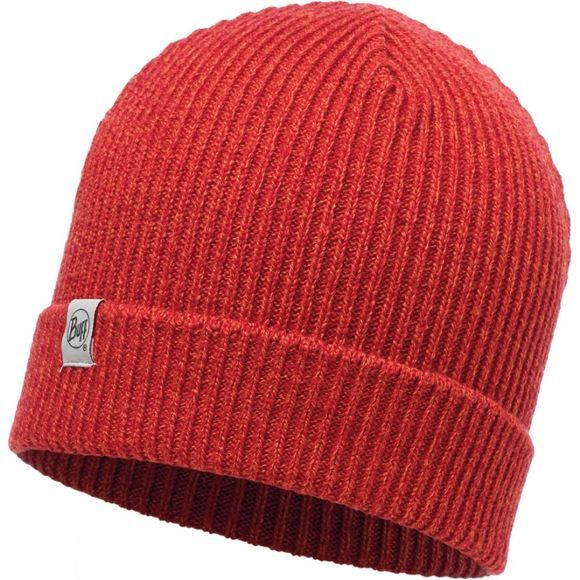 Buff Childrens Knitted & Polar Hat Sparky Red
