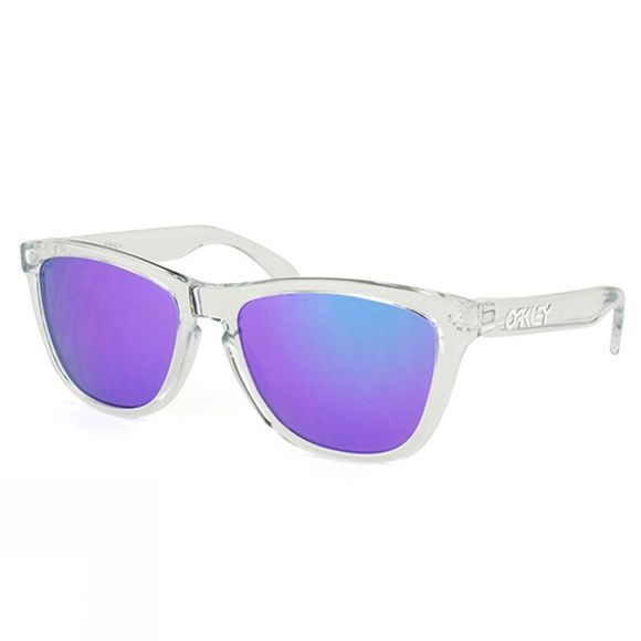 Oakley Frogskins Sunglasses Polished Clear/Violet Iridium