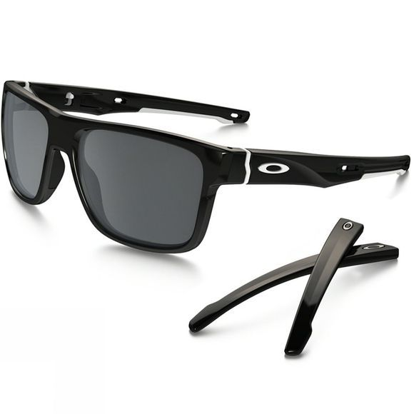 Oakley Crossrange Sunglasses Polished Black/Black Iridium