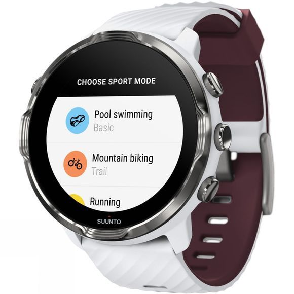 Suunto 7 GPS Multisport Watch White/Burgundy