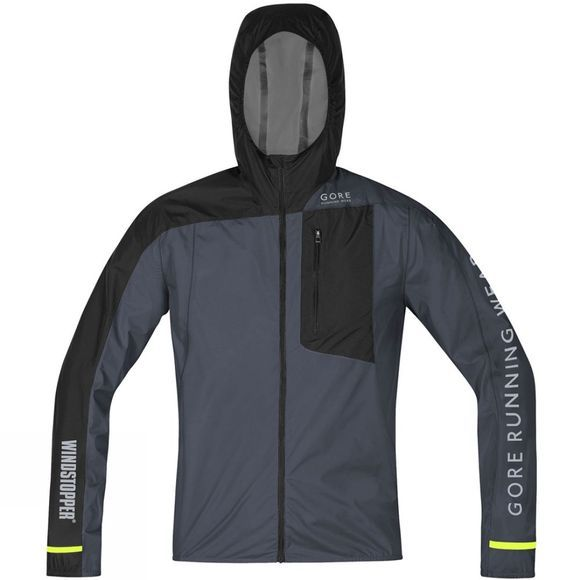 Gore Running Wear Fusion Windstopper Active Shell Jacket Grey