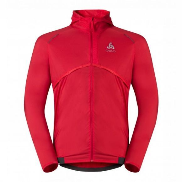 Odlo Mens Whirl Running Jacket Chinese Red