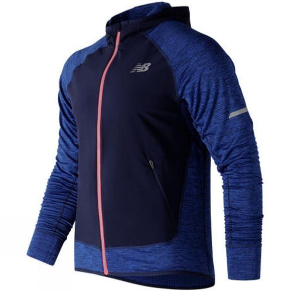 New Balance Mens Heat Run Jacket Team Royal Heather