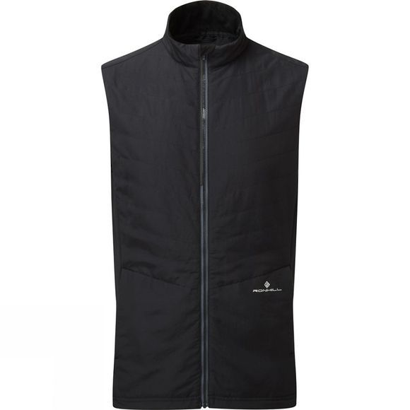 Ronhill Mens Stride Winter Gilet Black/Charcoal