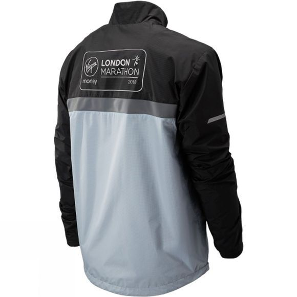 New Balance Mens London Edition Marathon Windcheater Jacket Light Blue
