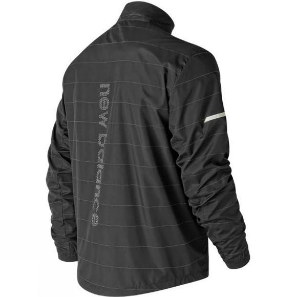 New Balance Mens NB Reflective Packable Jacket  Black
