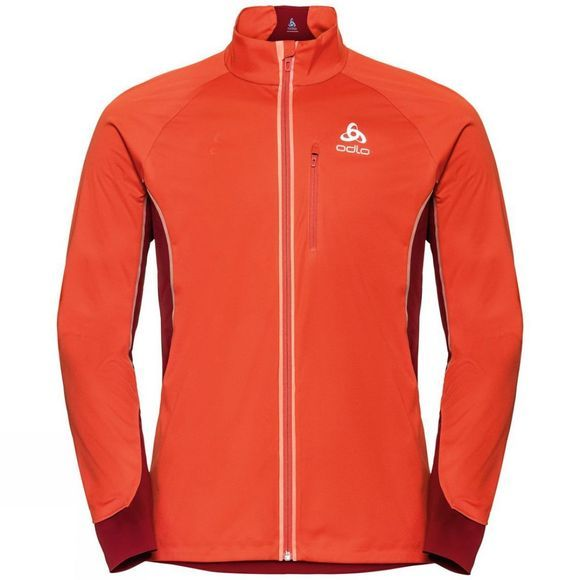 Odlo Mens Zeroweight Pro Jacket Poinciana - Red Dahlia