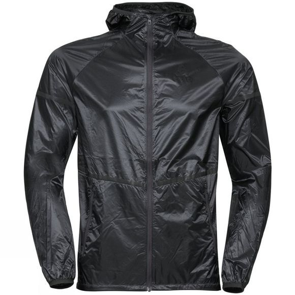 Odlo Mens Zeroweight Pro Jacket Black - Odlo Graphite Grey