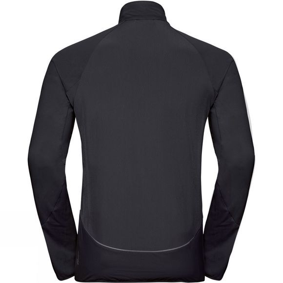 Odlo Mens Zeroweight Windproof Warm Jacket Black - Reflective Print FW19