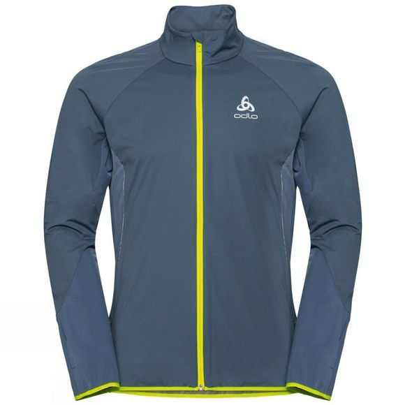 Odlo Mens Zeroweight Windproof Warm Jacket Bering Sea - Safety Yellow (Neon) - Tradewinds