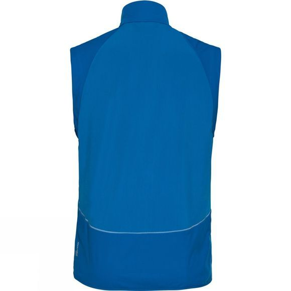 Odlo Mens Zeroweight Windproof Warm Vest Directoire Blue