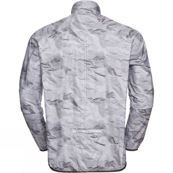 Odlo Mens Zeroweight Jacket Odlo Graphite Grey - Paper Print