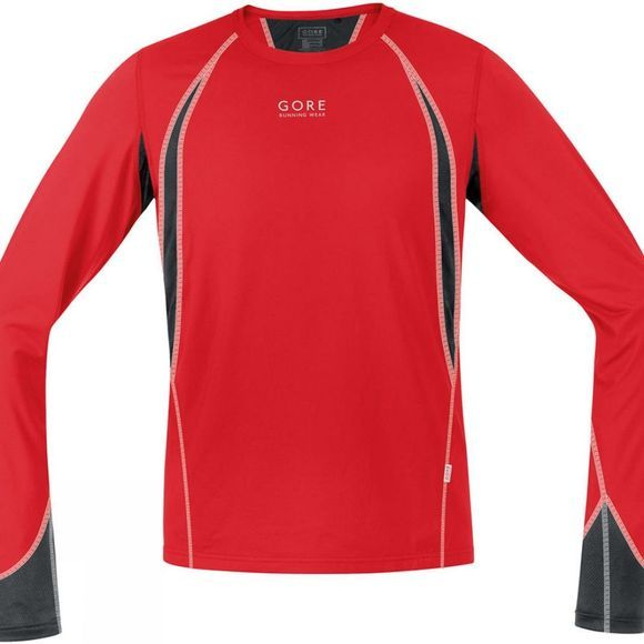 Gore Running Wear Men's Air 4.0 Shirt Long Sleeve Red/Black