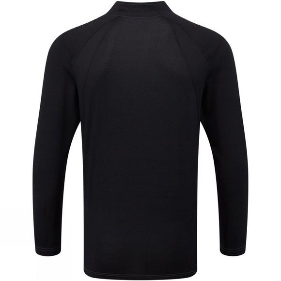 Ronhill Men's Trail Long Sleeve Zip Tee Granite/Black