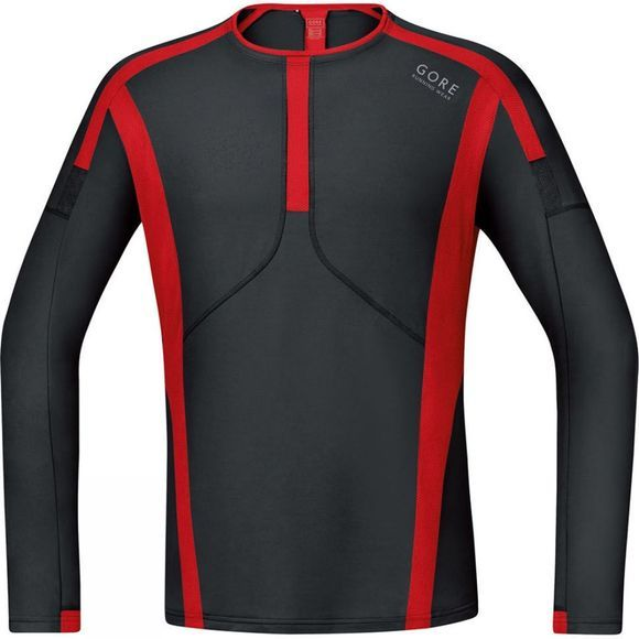 Gore Running Wear Men's Long Sleeve Air Shirt Black/Red
