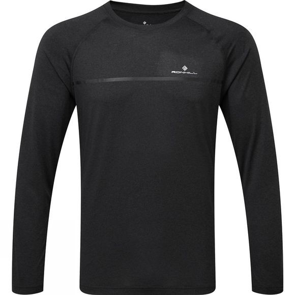 Ronhill Mens Everyday Long Sleeve Tee Charcoal Marl