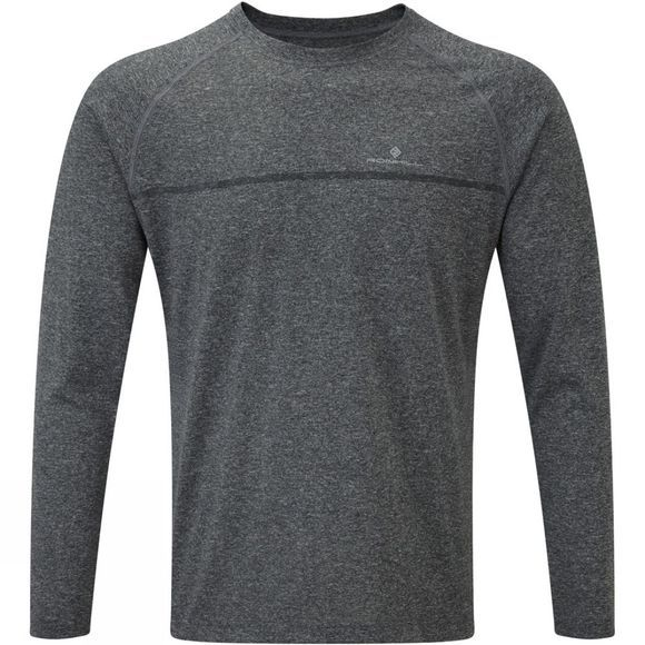 Ronhill Mens Everyday Long Sleeve Tee Grey Marl